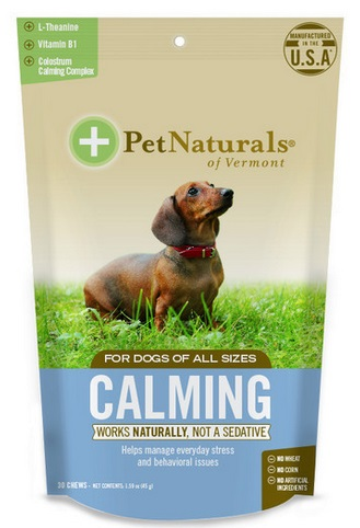 Pet Naturals of Vermont Calming Chews for Dogs, 30 softchews